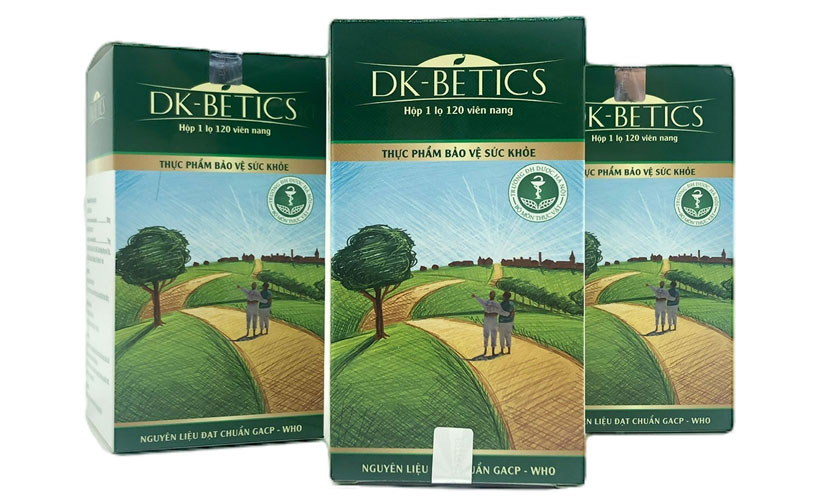 DK-Betics hỗ trợ điều trị tiểu đường