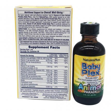 Ham Luong Vitamin Trong Baby Plex