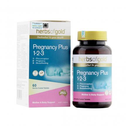 Viên Uống Herbs Of Gold Pregnancy Plus 1 2 3 Cung Cấp Dinh Dưỡng Toàn Diện Cho Phụ Nữ Mang Thai Và Cho Con Bú